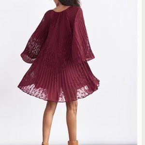 NWT Anthropologie Toulon Pleated Mini Dress Medium